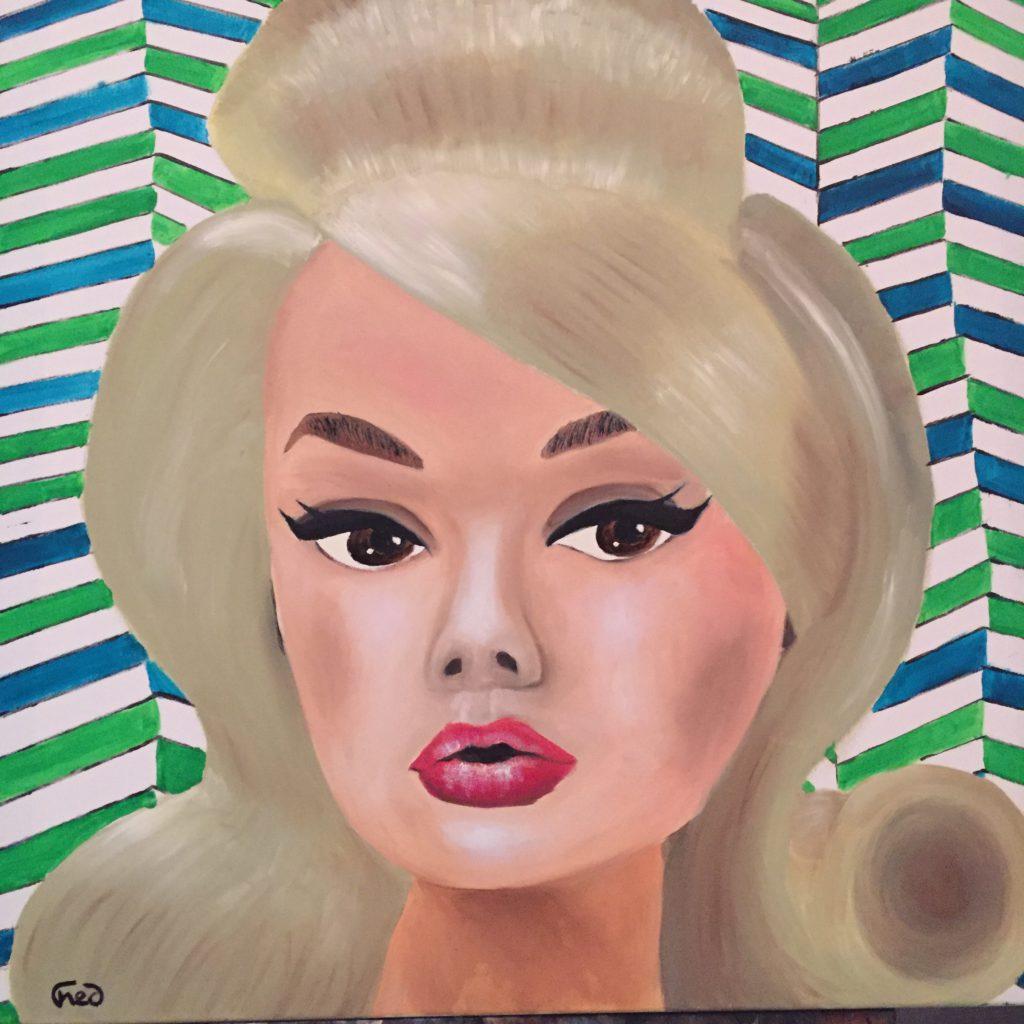 Blonde fifty au papier peint